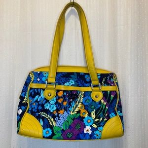Vera Bradley shoulder bag with leather details